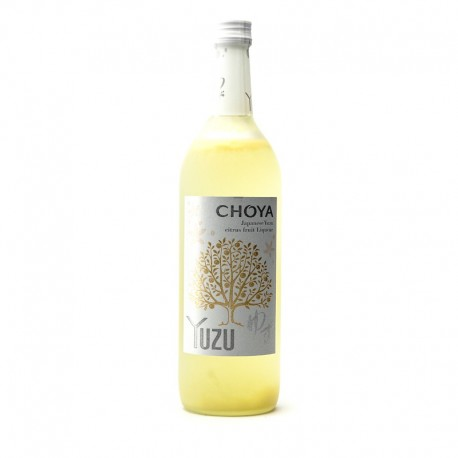 Bottle of Japanese plum liqueur, Choya Yuzu, format 70cl