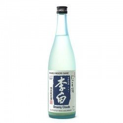 Bottle of Japanese sake Rihaku Nigori format 72cl