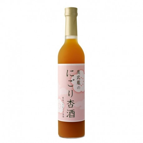 Bottle of japanese apricot liqueur Nigori Anzunshu format 50cl