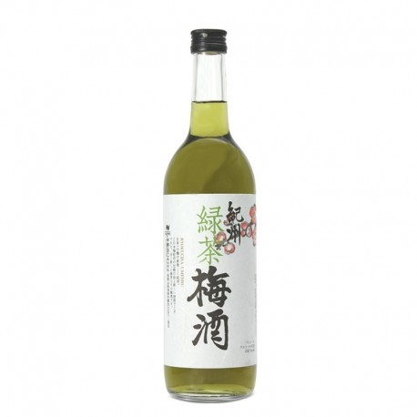Bottle of Japanese plum and green tea liqueur, Ryokucha Umeshu format 70cl