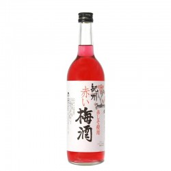 Bottle of Japanese plum and shiso liqueur Akai Umeshu au shiso format 70cl