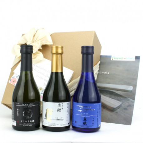 Set of 3 japanse sake bottles format 30cl