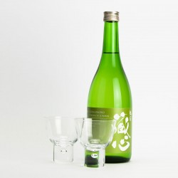 Composition Junmaï Special. One bottle of Japanese sake and two glasses