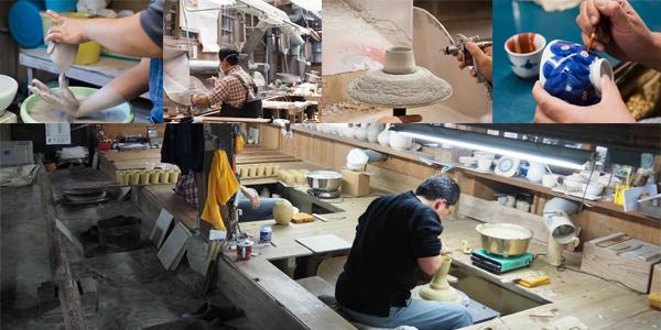 Une Kamamoto, atelier où est produit la porcelaine d'Arita
