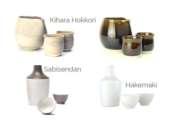 Porcelaine japonaise d'Arita, carafe et bol pour le service du saké japonais