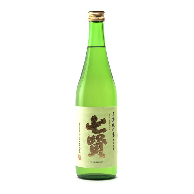 bouteille de saké japonais shichiken junmai ginjo 72cl