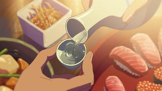 Saké japonais dans le film d'animation Your name