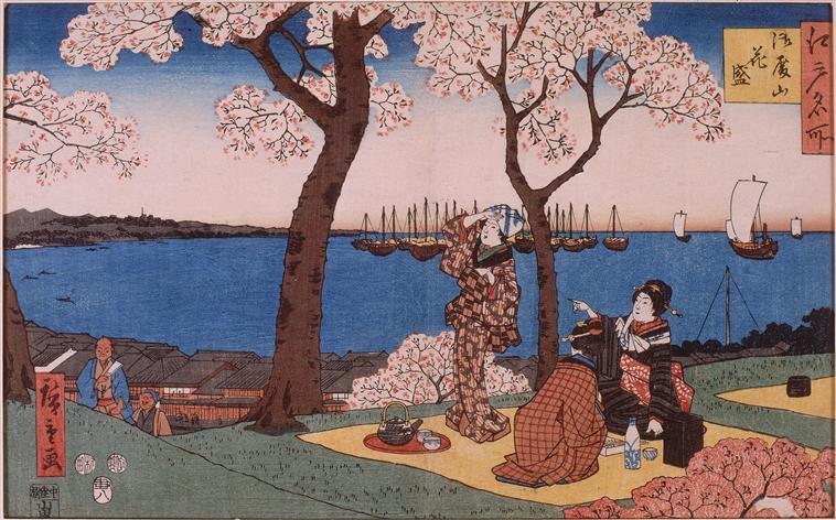 estampes représentant des femmes japonaise buvant du saké