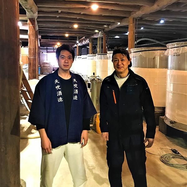 M Hosokawa, propriétaire de la brasserie de saké japonais de Amabuki Shuzo