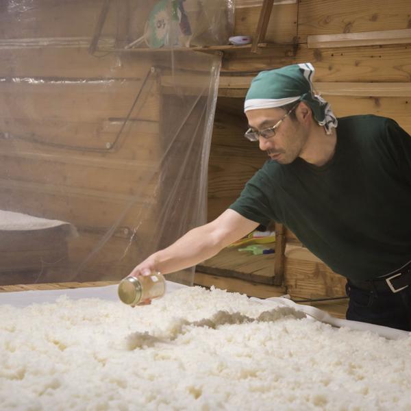 M Komatsu, propriétaire de la brasserie de saké japonais de Komatsu Shuzo