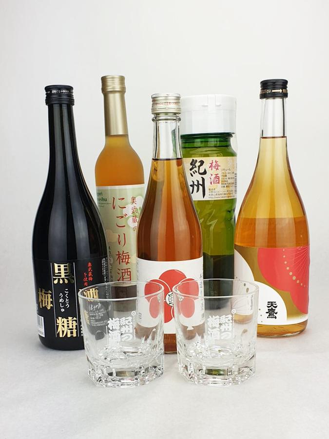 offre spéciale cinq bouteilles de liqueur de prune japonaise umeshu
