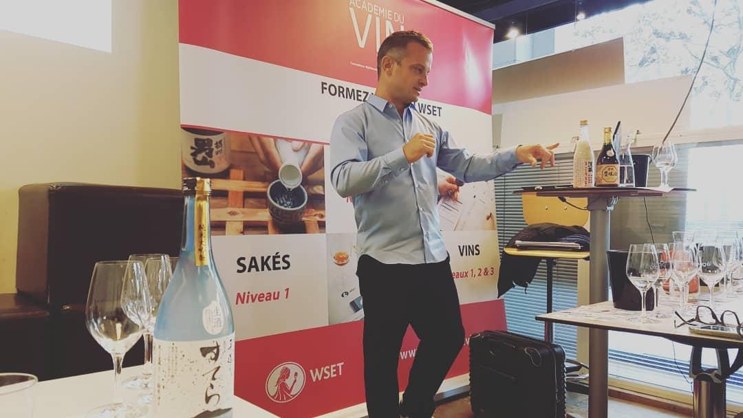 formation WSET level 1 sake à l'académie du vin de Paris