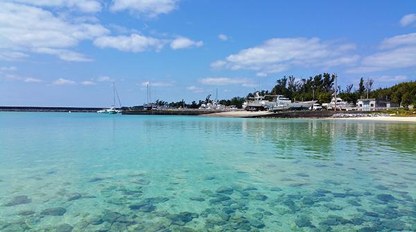 Image de la plage sur l'île de Iejima