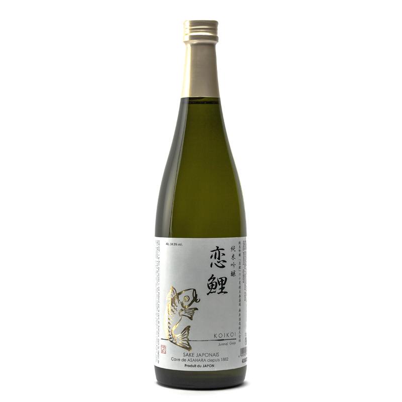 bouteille de saké japonais Koï Koï junmaï ginjo
