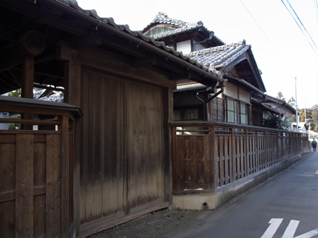 View of the factory sake Asahara Shuzo from outside